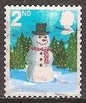 Sellos del Mundo : Europa : Reino_Unido : Navidad.Muñeco de nieve.