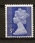 Sellos de Europa - Reino Unido -  Isabel II / Dos bandas de fosforo / (Carnet).