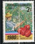 Stamps America - Dominican Republic -  Plantas alimenticias