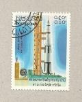 Stamps Laos -  X aniv vuelo Soyuz