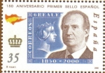Stamps Europe - Spain -  150 Aniver. sello Juan Carlos I