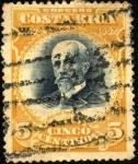 Sellos de America - Costa Rica -  Mauro Fernández. UPU 1907.