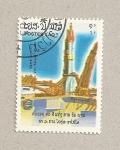 Stamps Laos -  10 aniv vuelo soyuz-Apolo