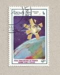 Sellos de Asia - Laos -  25 aniv. primer hombre en el espacio