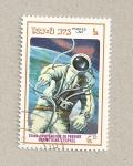 Stamps Laos -  25 aniv. primer hombre en el espacio