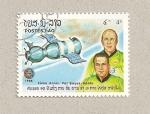 Sellos de Asia - Laos -  X aniv. vuelo Soyuz-Apolo
