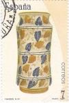 Stamps Spain -  Artesanía Española Cerámica -Manises s.XV     (C)