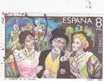 Sellos de Europa - España -  Maestros de la Zarzuela  - La Verbena de la Paloma     (C)
