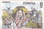 Stamps Spain -  Maestros de la Zarzuela  - La Rosa del Azafrán    (C)