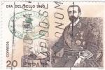 Sellos de Europa - España -  Día del sello  -Rafael Alvarez Sereix y franquicia postal   (C)