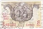 Stamps : Europe : Spain :  Día del sello -correo a caballo s.XIV   (C)