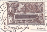 Stamps Spain -  Día del sello -Boca de buzón    (C)