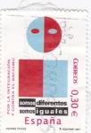 Stamps Spain -  Por la integración y contra el racismo     (C)