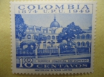 Stamps of the world : Colombia :  Correo Colonial Santo Domingo (Colombia 1874 U:P:U. 1949)