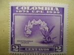 Stamps of the world : Colombia :  ODONTOGLOSSUM  CRISPUM-Colombia 1874  U.P:U. 1949