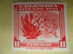 Stamps of the world : Colombia :  75°Aniversario de la Unión Postal Universal (Scott/443/9)-MILTONIA  VEXILLARIA - Colombia 1874 U.P.U