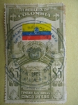 Stamps of the world : Colombia :  República de Colombia-Capitoli-Bandera-Estampilla de Timbre Nacional