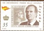 Stamps Spain -  150 Aniver. sello Juan Carlos I