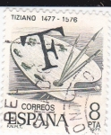 Stamps Spain -  Tiziano 1477-1576    (C)