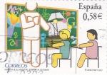 Stamps Spain -  Homenaje al maestro    (C)