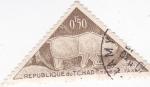 Sellos de Africa - Chad -  pinturas rupestres