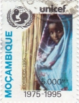 Stamps Mozambique -  UNICEF 1975-1995
