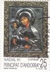 Sellos de Europa - Andorra -  Nadal 1991- Verge Trijérusa