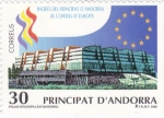 Sellos de Europa - Andorra -  Ingres del Principat D' Andorra al consell D´Europa