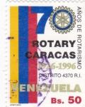 Sellos de America - Venezuela -  70 años de Rotarismo