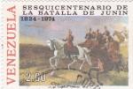 Stamps Venezuela -  150 años de la batalla de Junin 1824-1974