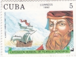 Sellos de America - Cuba -  Exposición filatélica Genova-92