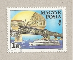 Stamps Hungary -  Puente en Novi Sad