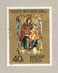 Sellos de Europa - Hungría -  Icono Virgen con Niño siglo XVIII