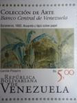 Stamps Venezuela -  Bananeros,1852.Acuarela y lápiz sobre papel.Colección de Arte. Autor:Camille Pissarro 4de6