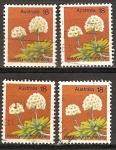 Sellos del Mundo : Oceania : Australia : Flores silvestres.