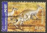 Stamps Australia -  2350 - canguro rojo