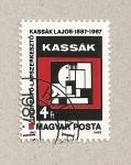 Stamps Hungary -  Pintura abstracta por Lajos Kassak