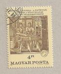 Sellos de Europa - Hungría -  125 Aniv. imprenta papel y prensa