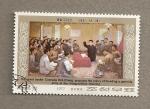 Stamps North Korea -  El gran leader propone fundar una guerrilla