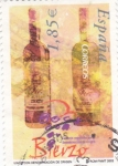 Sellos de Europa - España -  vinos con denominación de origen -Bierzo