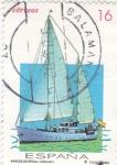 Stamps Spain -  barcos de época (Giralda)     (D)