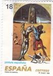 Stamps Spain -  pintura española-poesía de America     (D)