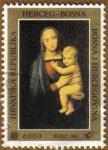 Stamps Europe - Bosnia Herzegovina -  Pintura Madre con niño