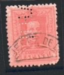 Stamps : Europe : Spain :  Alfonso XIII - Tipo II - Taladrado