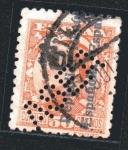Stamps : Europe : Spain :  Alfonso XIII - sobrecargado - taladrado
