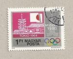 Sellos de Europa - Hungría -  Olimpiadas Tokio-Moscú 1964-1980