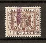 Stamps Spain -  Telegrafos / Escudo de España.
