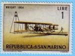 Stamps : Europe : San_Marino :  Wright 1904