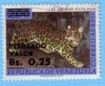 Stamps : America : Venezuela :  El Jaguar (Felis Onca)