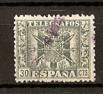 Sellos de Europa - España -  Telegrafos / Escudo de España.